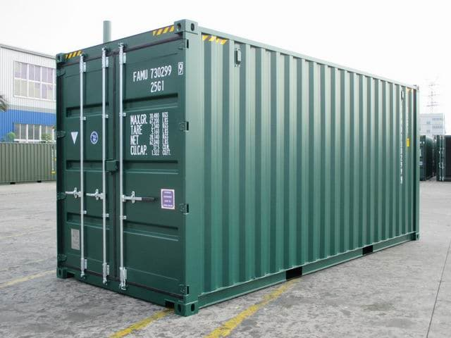20ft HC Green RAL6005 A1Containers (1)