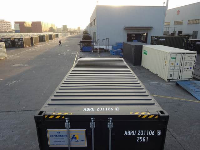 20ft High Cube EOD Black A1 Containers (10)