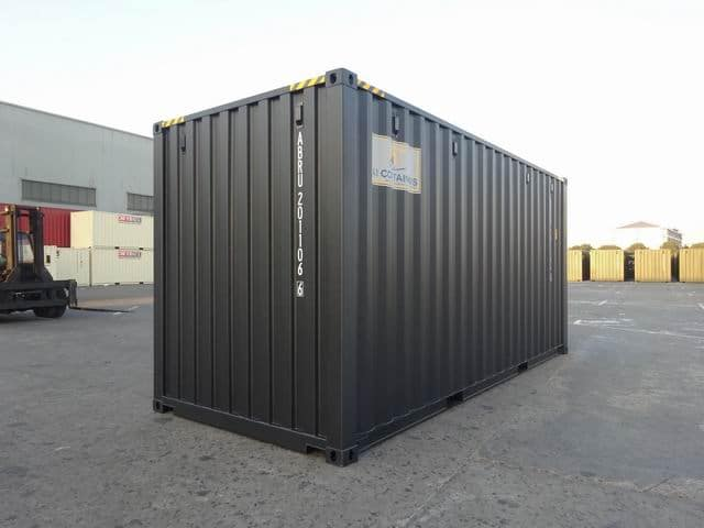 20ft High Cube EOD Black A1 Containers (5)