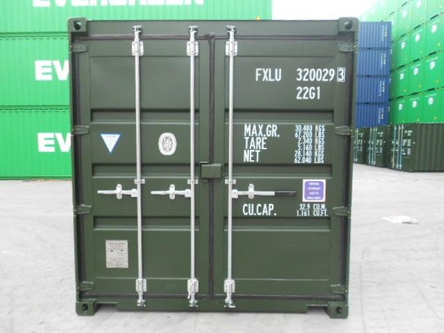 A1 Containers 20ft Std Double Door Green Easy Door FB (1)