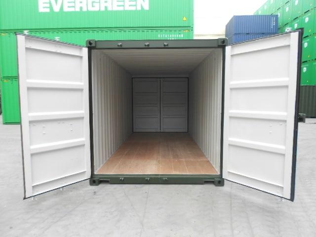 A1 Containers 20ft Std Double Door Green Easy Door FB (10)