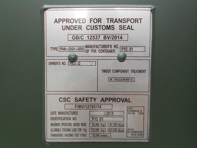 A1 Containers 20ft Std Double Door Green Easy Door FB (15)