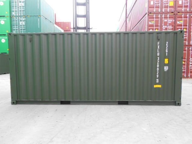 A1 Containers 20ft Std Double Door Green Easy Door FB (3)