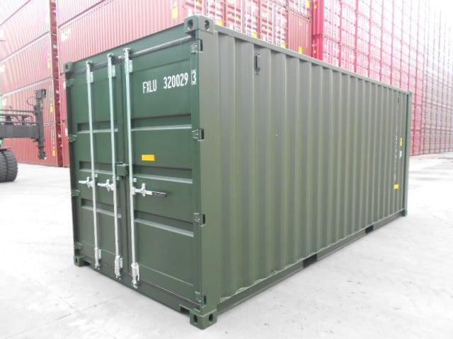 A1 Containers 20ft Std Double Door Green Easy Door FB (4)