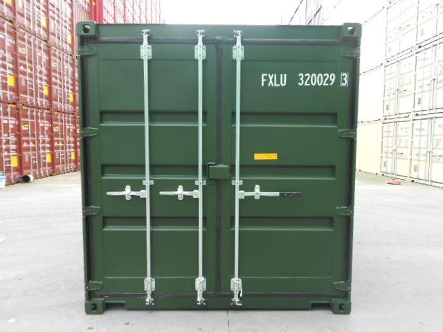 A1 Containers 20ft Std Double Door Green Easy Door FB (5)