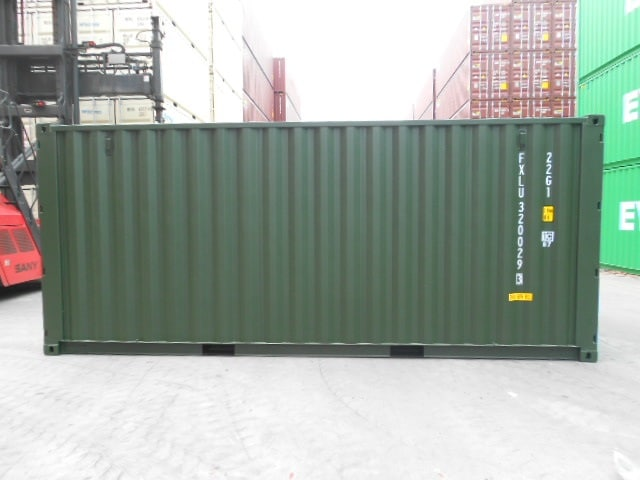 A1 Containers 20ft Std Double Door Green Easy Door FB (7)