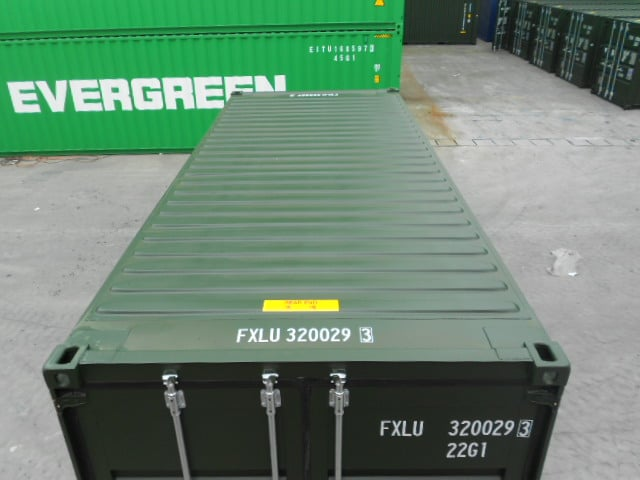 A1 Containers 20ft Std Double Door Green Easy Door FB (9)