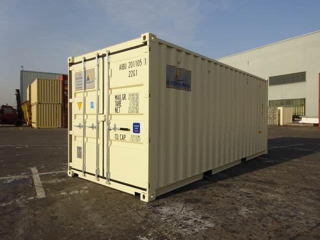 A1 Containers 20ft Std EOD Double Door Beige (1)