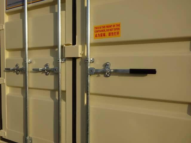 A1 Containers 20ft Std EOD Double Door Beige (12)