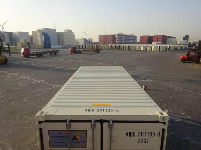 A1 Containers 20ft Std EOD Double Door Beige (14)