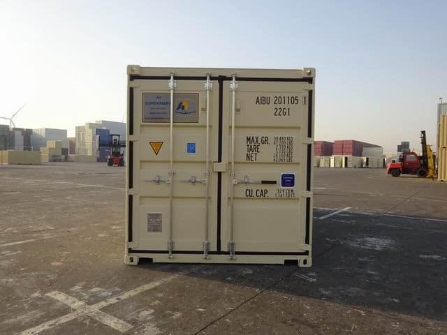 A1 Containers 20ft Std EOD Double Door Beige (18)