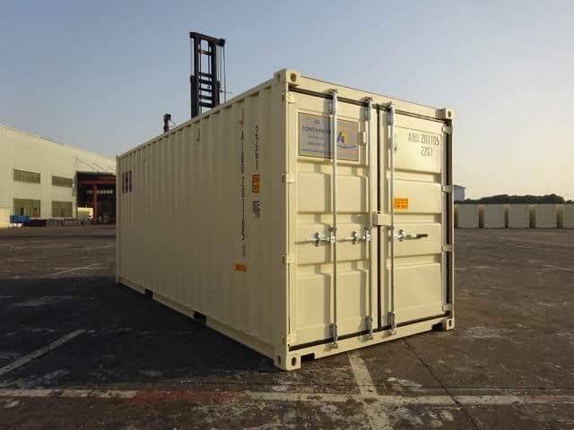 A1 Containers 20ft Std EOD Double Door Beige (3)