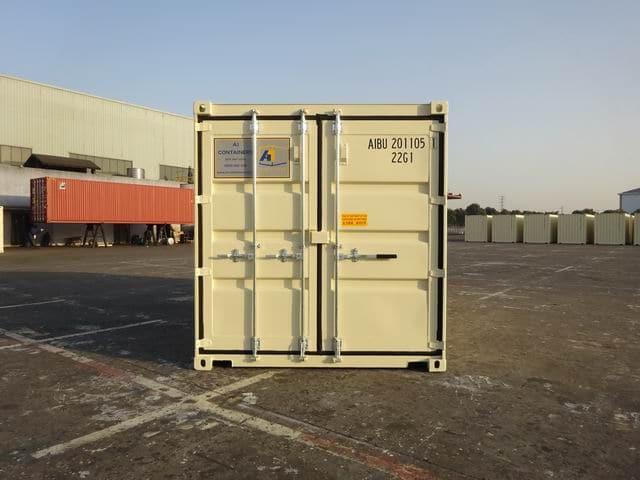 A1 Containers 20ft Std EOD Double Door Beige (4)