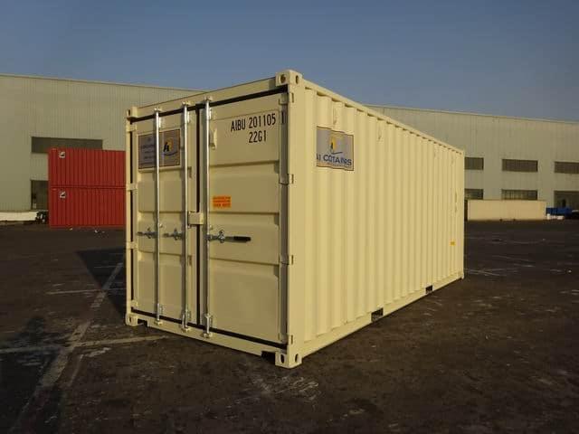 A1 Containers 20ft Std EOD Double Door Beige (5)