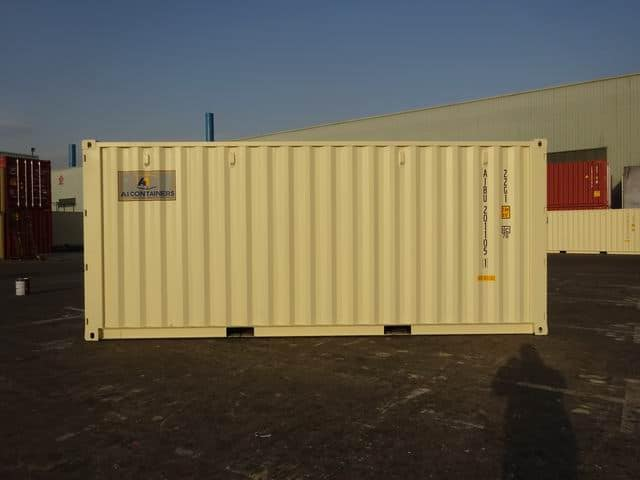 A1 Containers 20ft Std EOD Double Door Beige (6)