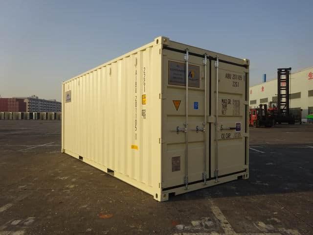 A1 Containers 20ft Std EOD Double Door Beige (7)
