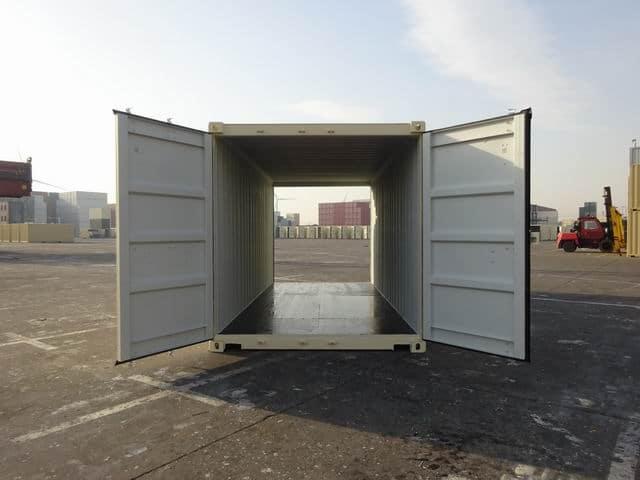 A1 Containers 20ft Std EOD Double Door Beige (8)