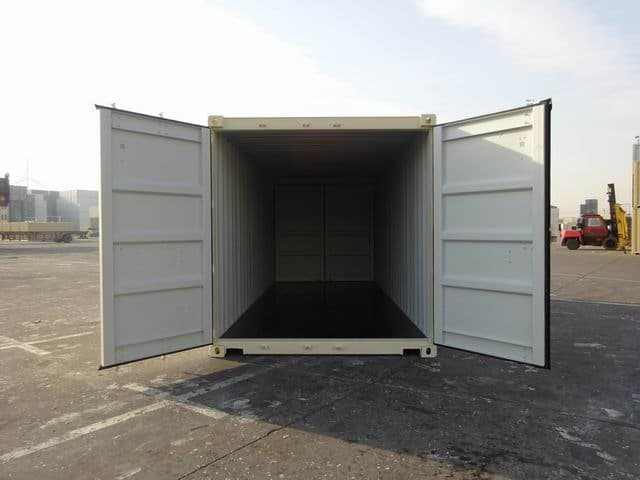 A1 Containers 20ft Std EOD Double Door Beige (9)