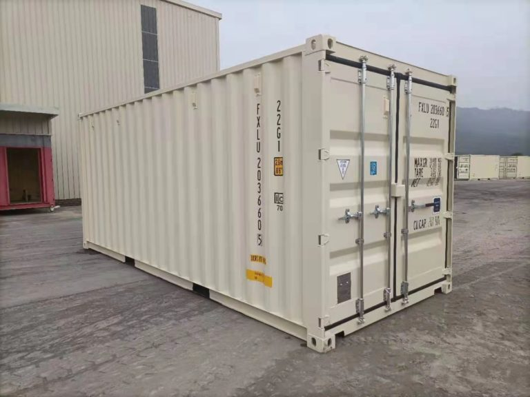 A1 Containers 20ft Std EOD - TRI Door Beige (1)