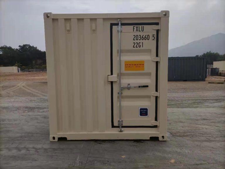 A1 Containers 20ft Std EOD - TRI Door Beige (12)