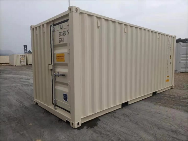 A1 Containers 20ft Std EOD - TRI Door Beige (15)