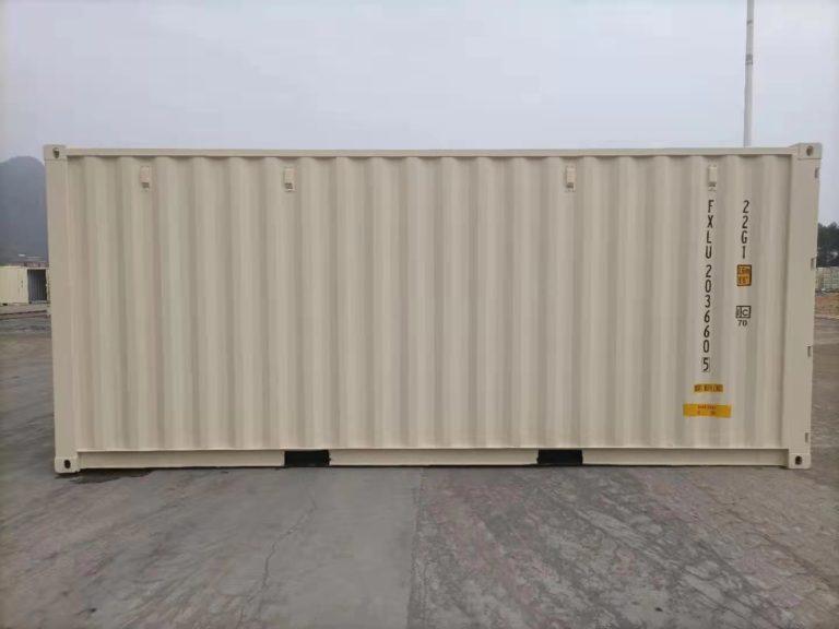 A1 Containers 20ft Std EOD - TRI Door Beige (2)