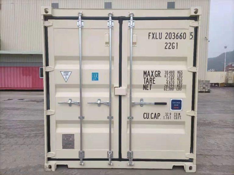 A1 Containers 20ft Std EOD - TRI Door Beige (3)