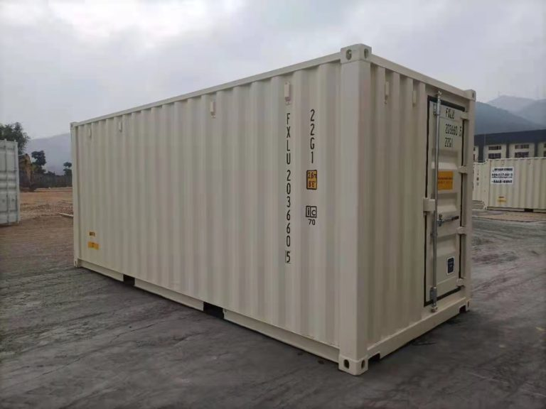 A1 Containers 20ft Std EOD - TRI Door Beige (4)