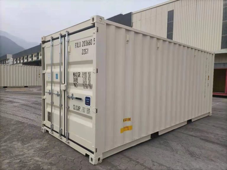 A1 Containers 20ft Std EOD - TRI Door Beige (5)