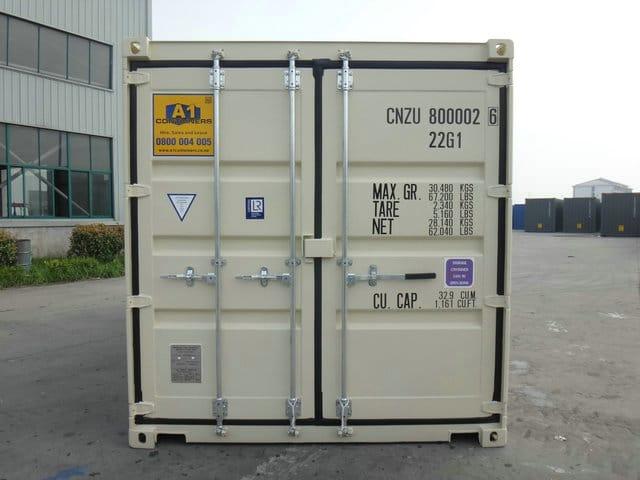 A1 Containers 20ft Std NB Beige - Easy door (1)