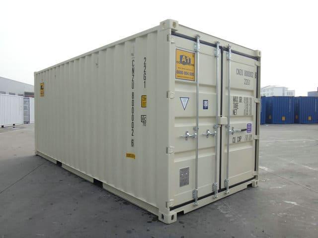A1 Containers 20ft Std NB Beige - Easy door (2)