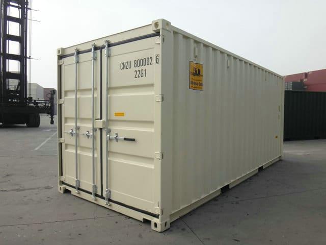 A1 Containers 20ft Std NB Beige - Easy door (4)
