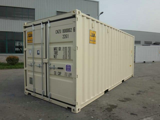 A1 Containers 20ft Std NB Beige - Easy door (8)