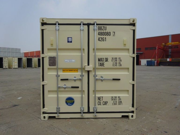 A1 Containers 40ft Std EOD Beige (1)