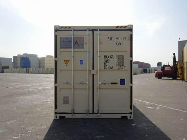 20ft High Cube EOD Beige A1 Containers (13)