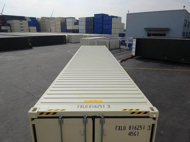 40ft High Cube Double Door Beige A1 Containers (14)