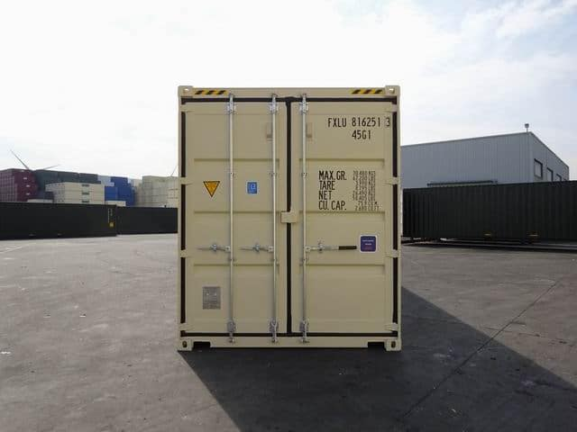 40ft High Cube Double Door Beige A1 Containers (17)