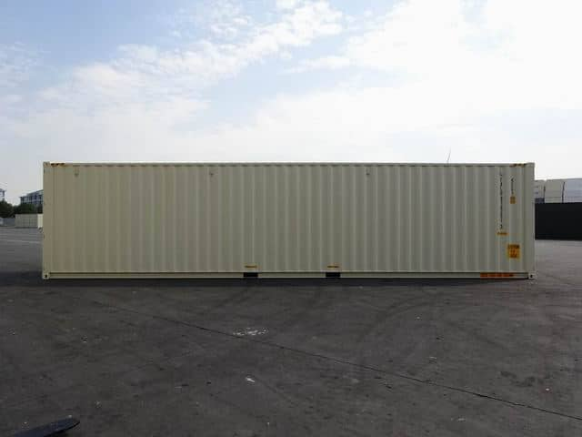 40ft High Cube Double Door Beige A1 Containers (2)
