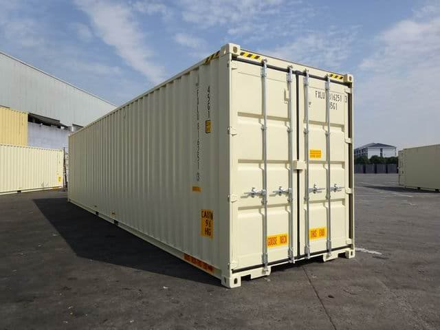 40ft High Cube Double Door Beige A1 Containers (3)