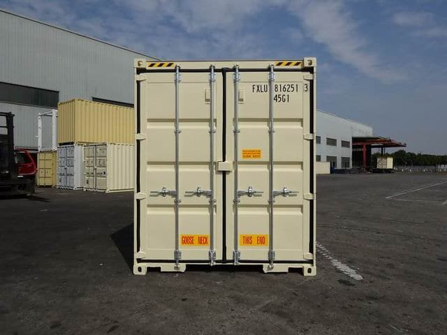40ft High Cube Double Door Beige A1 Containers (4)