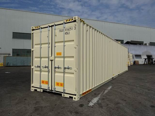 40ft High Cube Double Door Beige A1 Containers (5)