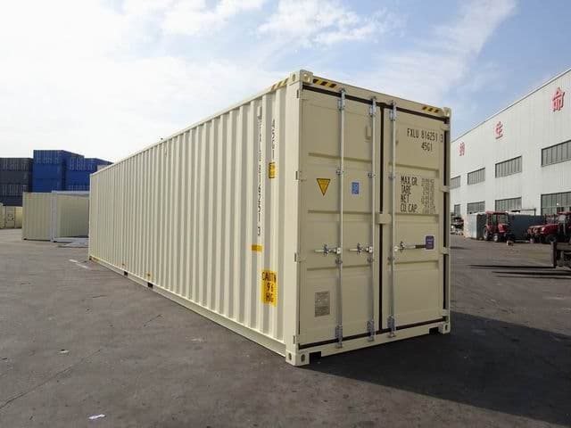 40ft High Cube Double Door Beige A1 Containers (7)
