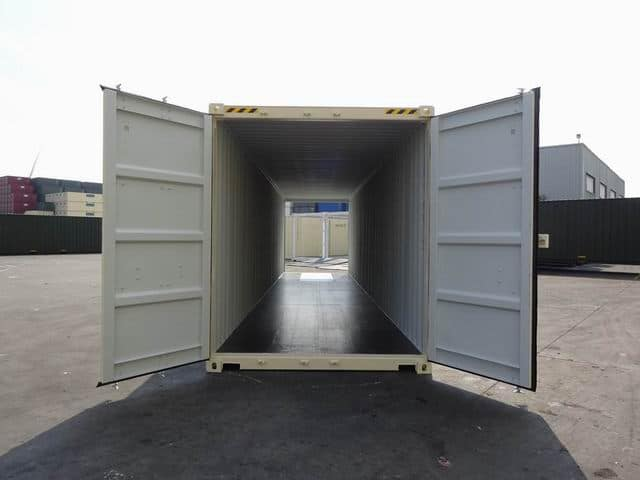 40ft High Cube Double Door Beige A1 Containers (8)