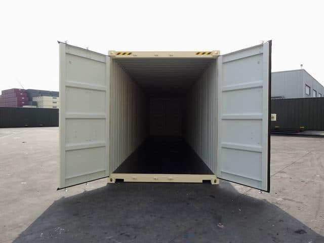 40ft High Cube Double Door Beige A1 Containers (9)