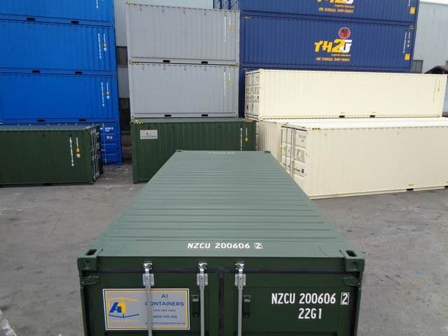 A1 Containers 20ft Std RAL6007 (10)
