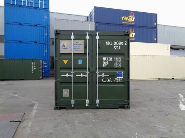 A1 Containers 20ft Std RAL6007 (14)