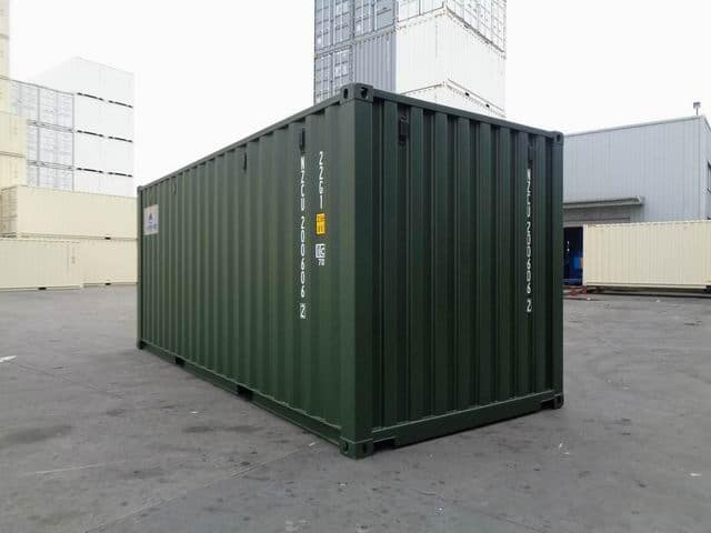 A1 Containers 20ft Std RAL6007 (3)