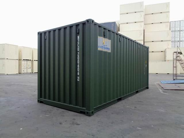 A1 Containers 20ft Std RAL6007 (5)