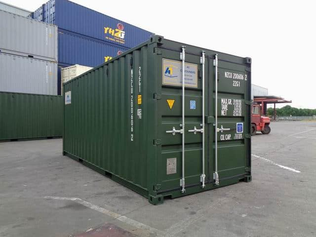 A1 Containers 20ft Std RAL6007 (7)