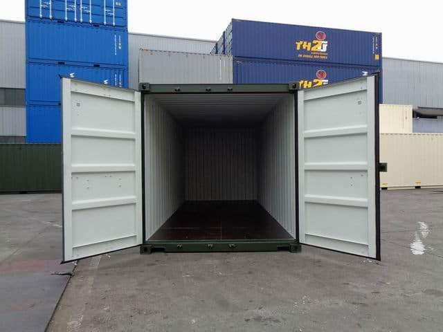 A1 Containers 20ft Std RAL6007 (8)